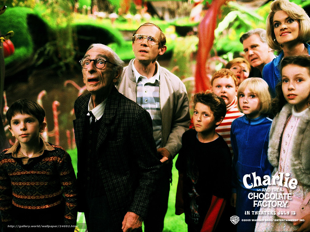 Чарли и шоколадная фабрика charlie and the Чарли и шоколадная фабрика charlie and the chocolate factory film movies desktop in the resolution 1024x768 picture №