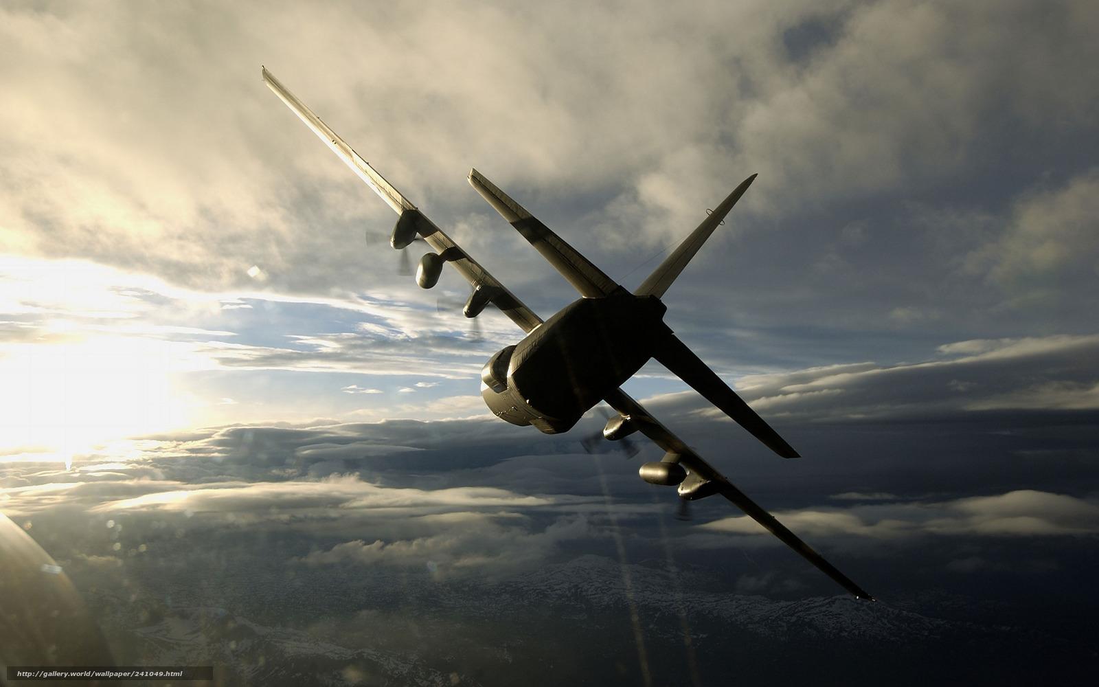 Скачать обои военно-транспортный,  самолёт,  геркулес бесплатно для рабочего стола в разрешении 2560x1600 — картинка №241049