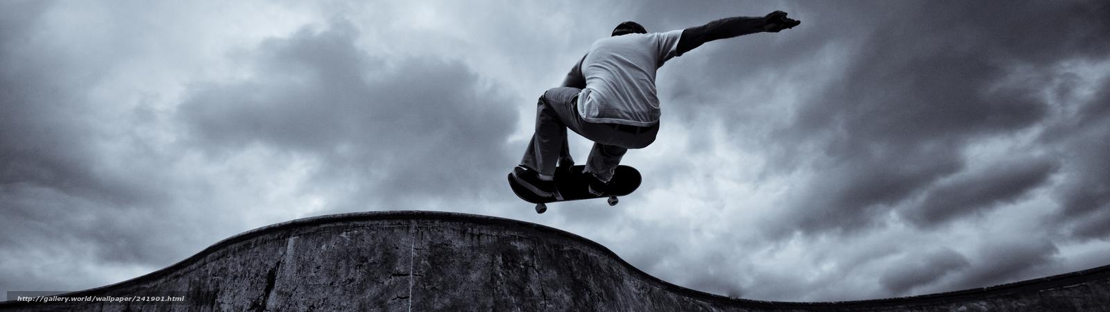 Descargar gratis skater,  Deporte,  La adrenalina Fondos de escritorio en la resolucin 3840x1080 — imagen №241901
