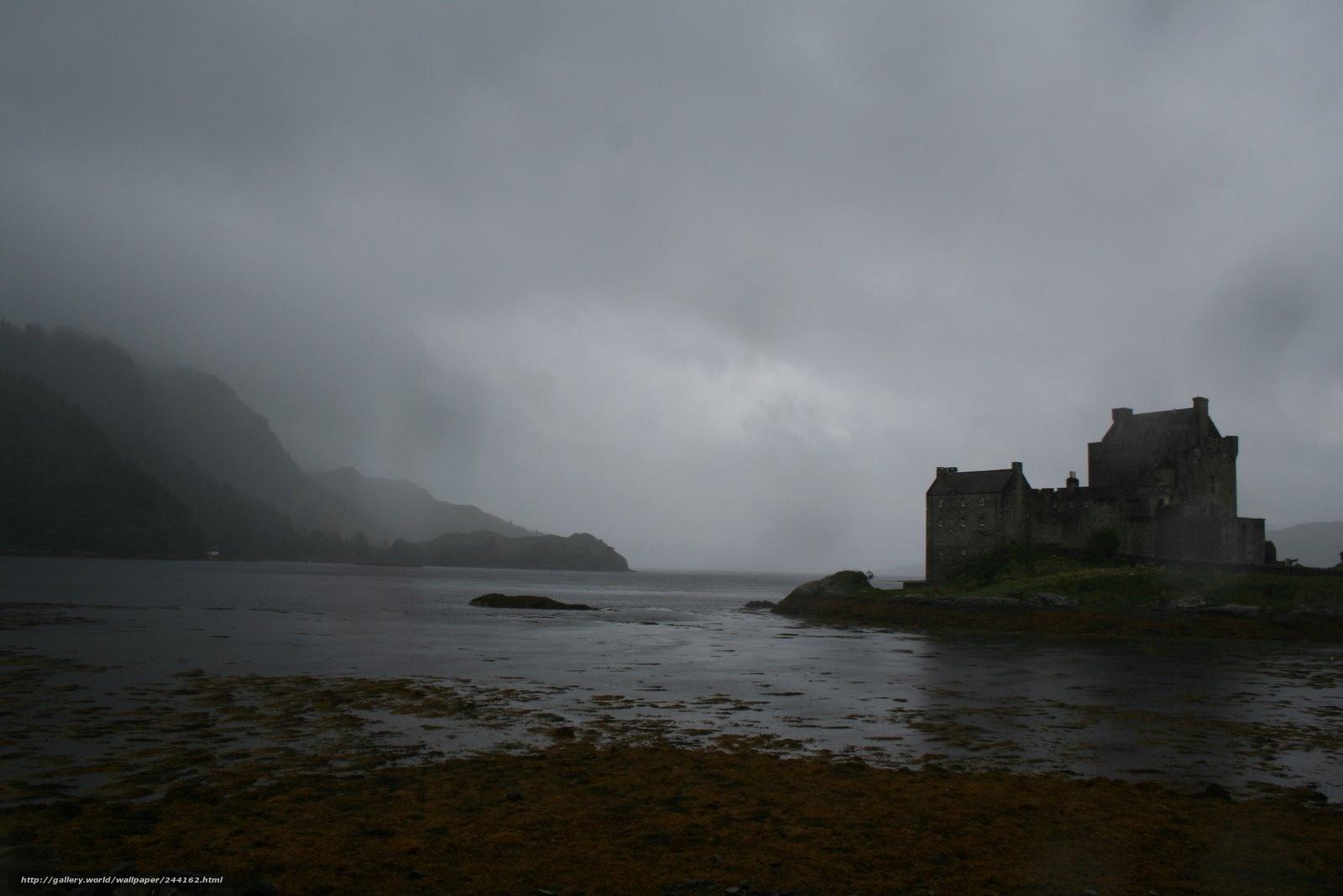 Скачать обои шотландия,   замок,   эйлен-донан,   озеро бесплатно для рабочего стола в разрешении 1600x1067 — картинка №244162