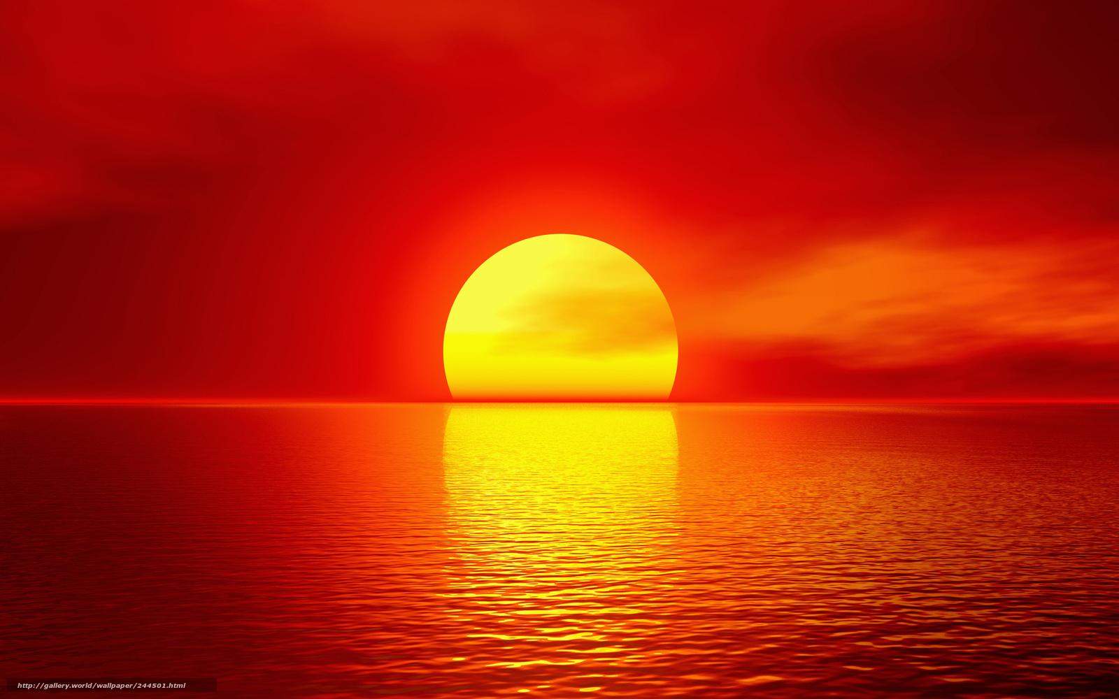 tlcharger fond d 39 ecran soleil mer coucher du soleil rouge fonds d 39 ecran gratuits pour votre. Black Bedroom Furniture Sets. Home Design Ideas