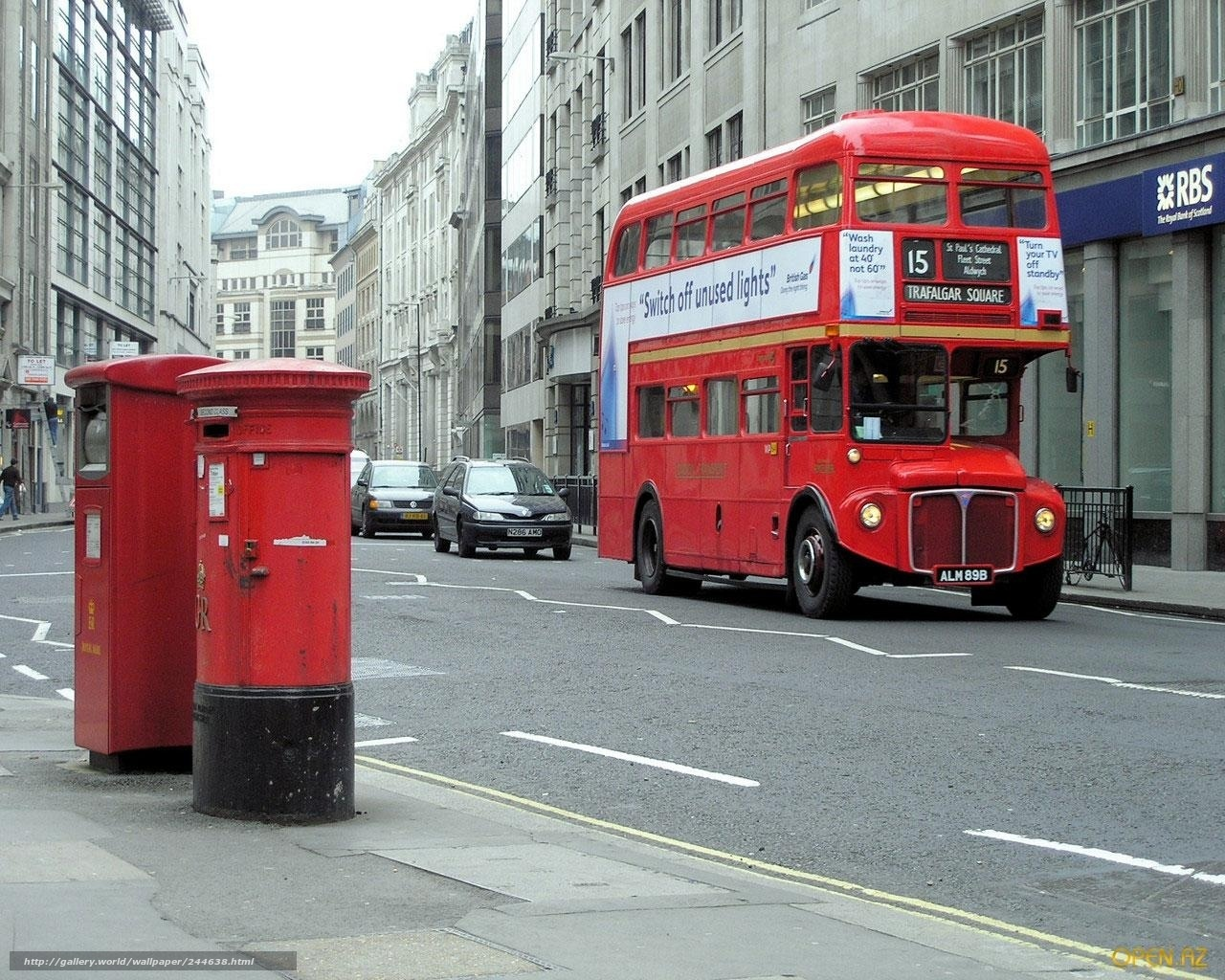 Download Wallpaper London, England, Bus, Trash Can Free Desktop Wallpaper In The Resolution