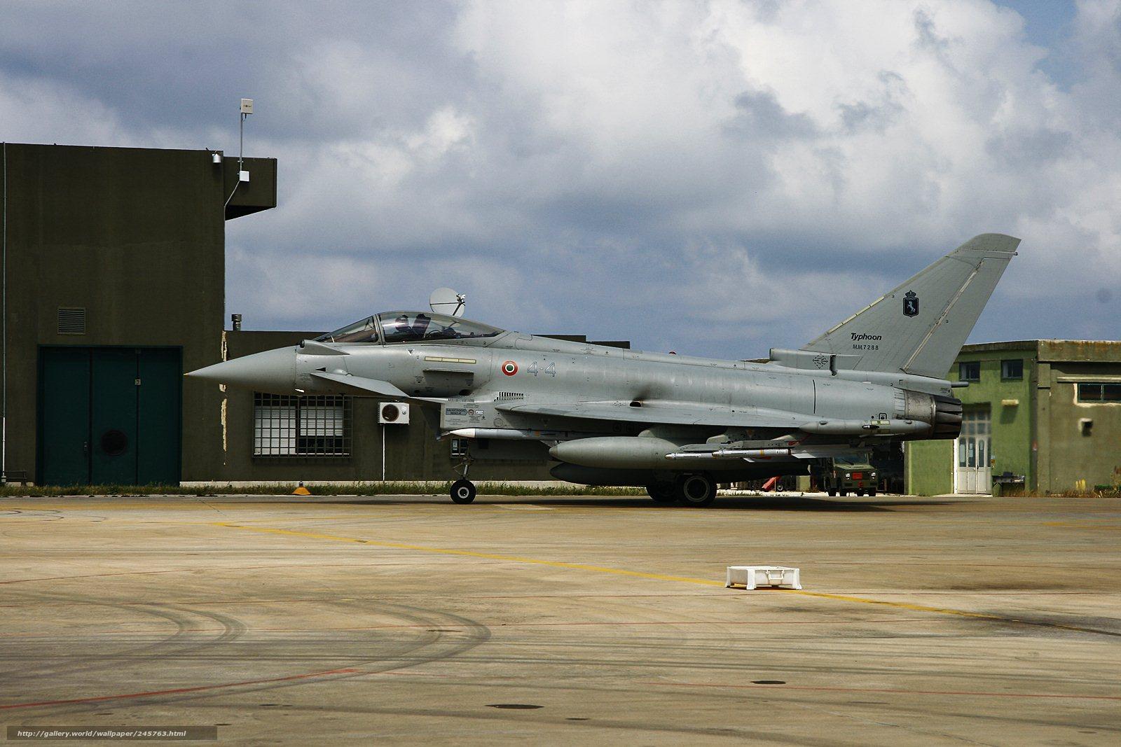 Скачать обои Europower,   Typhoon,   истребитель бесплатно для рабочего стола в разрешении 1600x1067 — картинка №245763