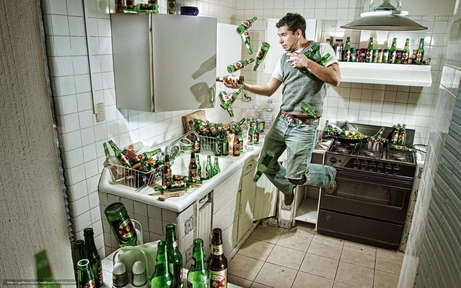 Download wallpaper muzhik,  bottle,  beer,  plate free desktop wallpaper in the resolution 2560x1600 — picture №246385