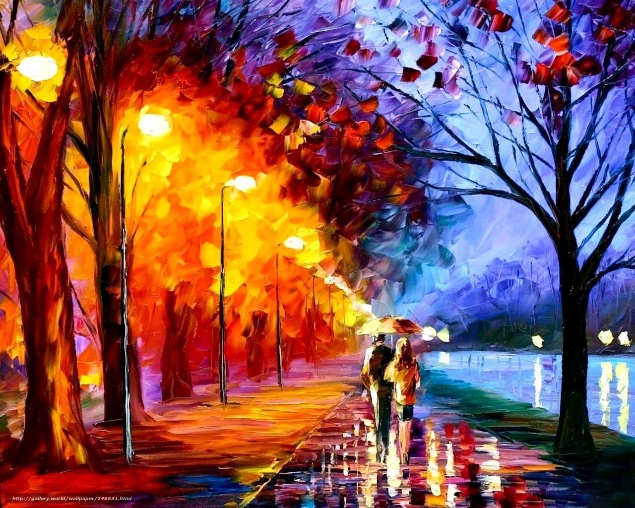 Scaricare gli sfondi pittura a olio autunno luminoso for Immagini autunno hd