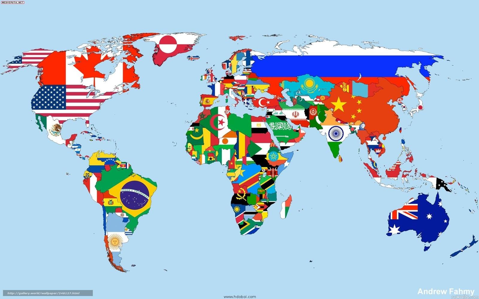 Tlcharger fond d 39 ecran carte monde drapeau pays fonds d for Fond ecran monde