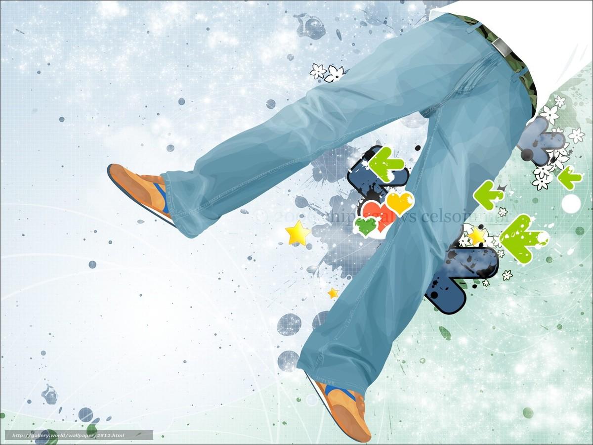 Скачать обои джинсы,  вектор,  стрелки бесплатно для рабочего стола в разрешении 1600x1200 — картинка №2512