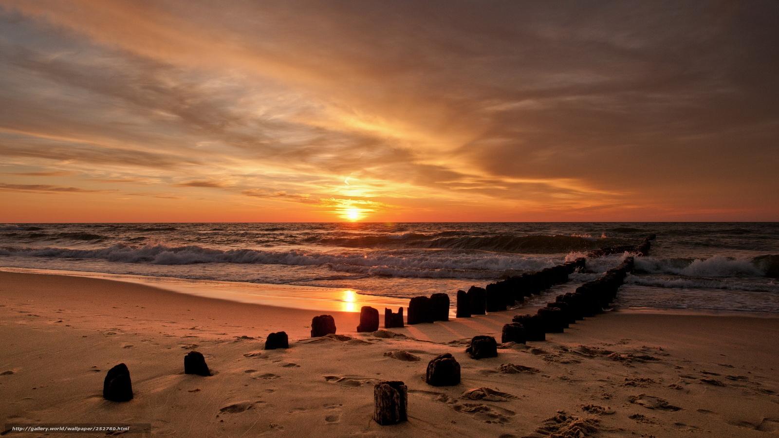 Tlcharger fond d 39 ecran coucher du soleil mer ciel fonds for Fond ecran gratuit mer