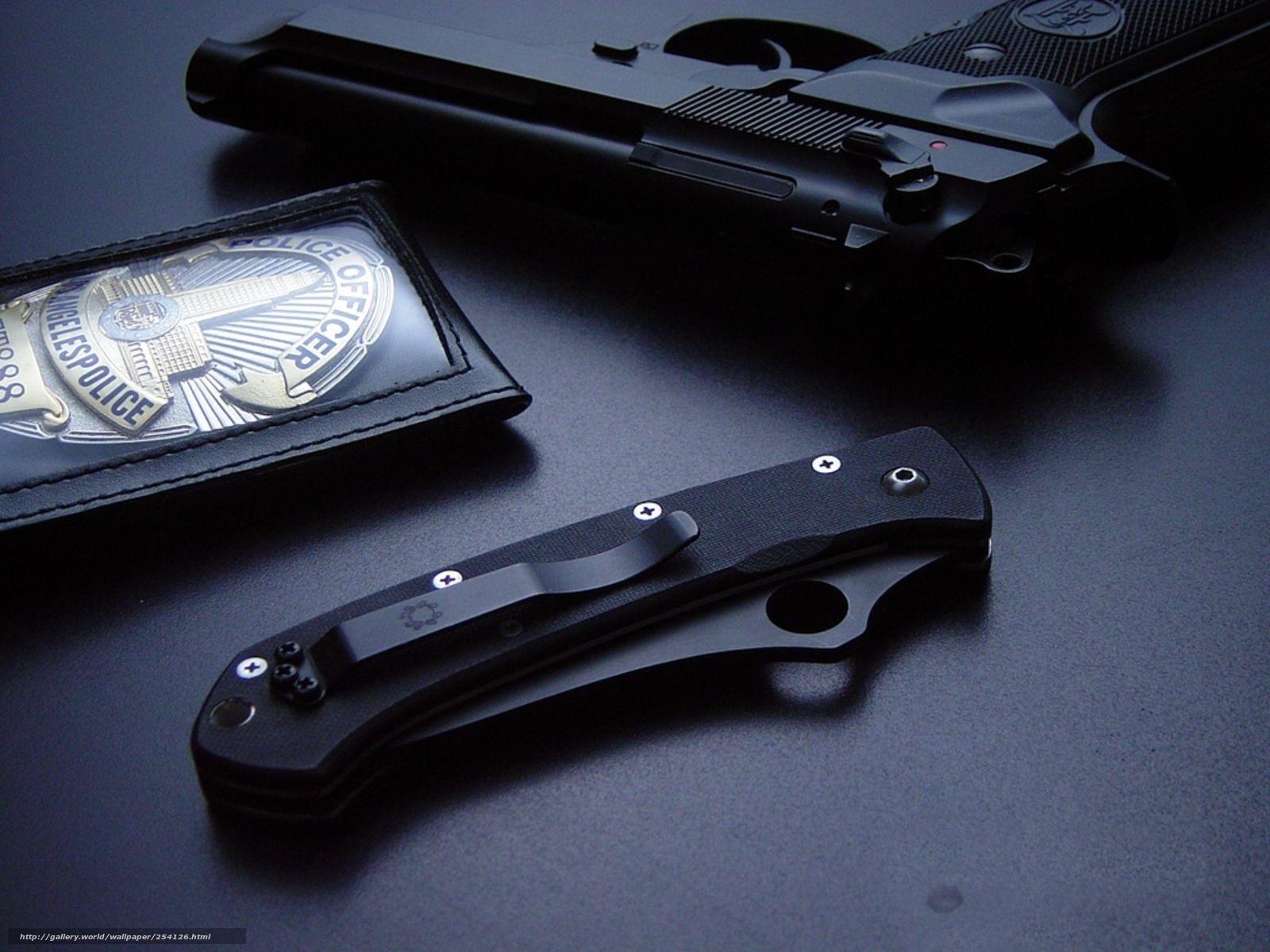 Scaricare Gli Sfondi Pistola Coltello Polizia Sfondi Gratis Per La