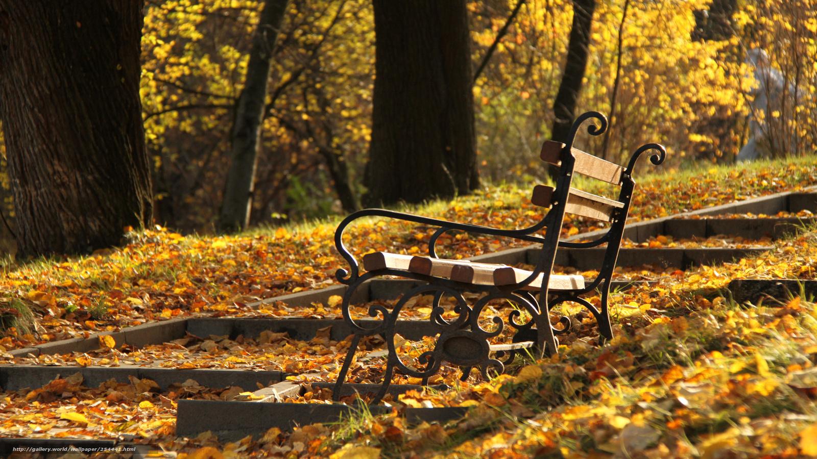 Scaricare gli sfondi parco panchina autunno sfondi for Sfondi desktop autunno