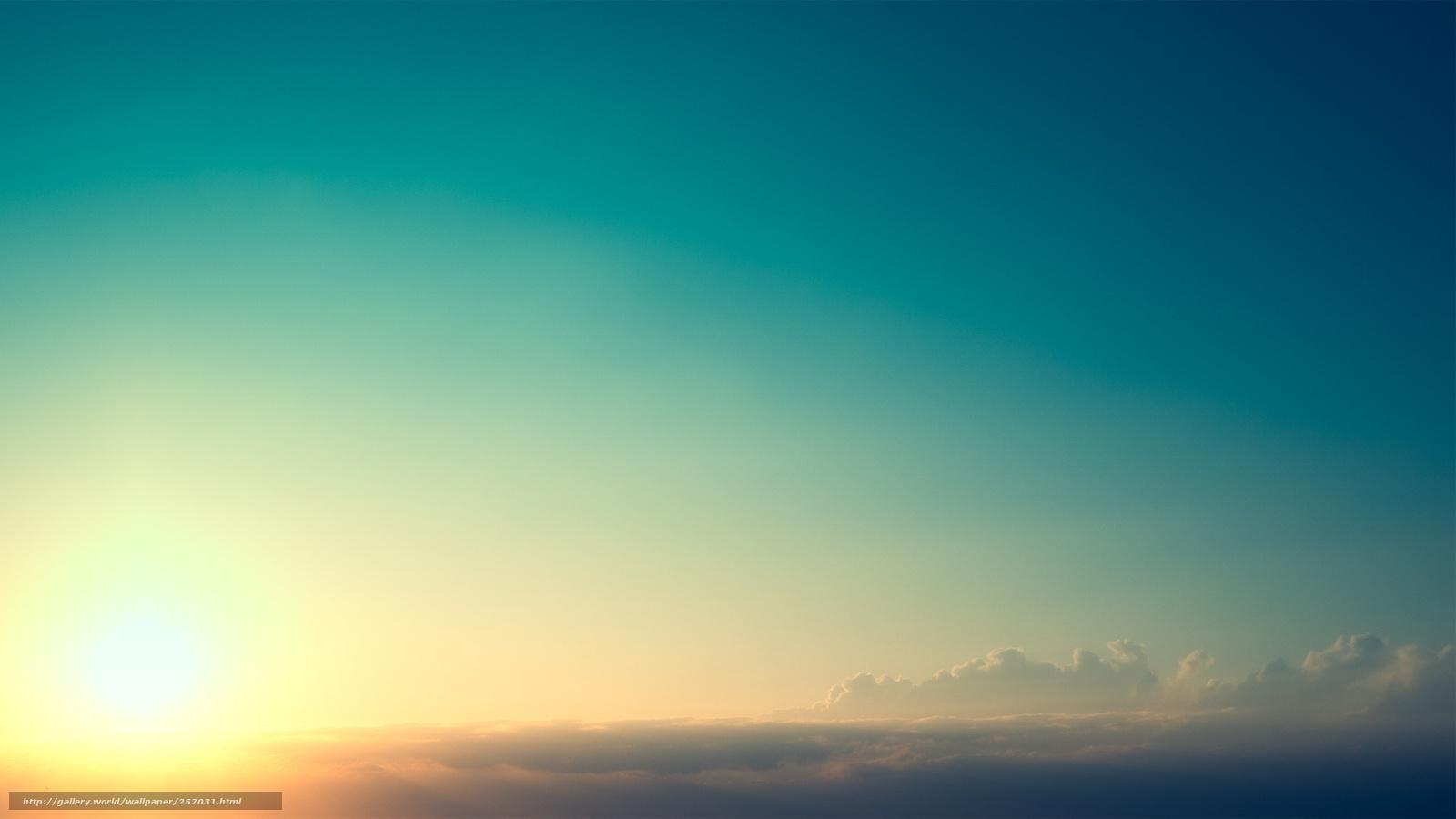 download wallpaper sunset turquoise sun beautifully