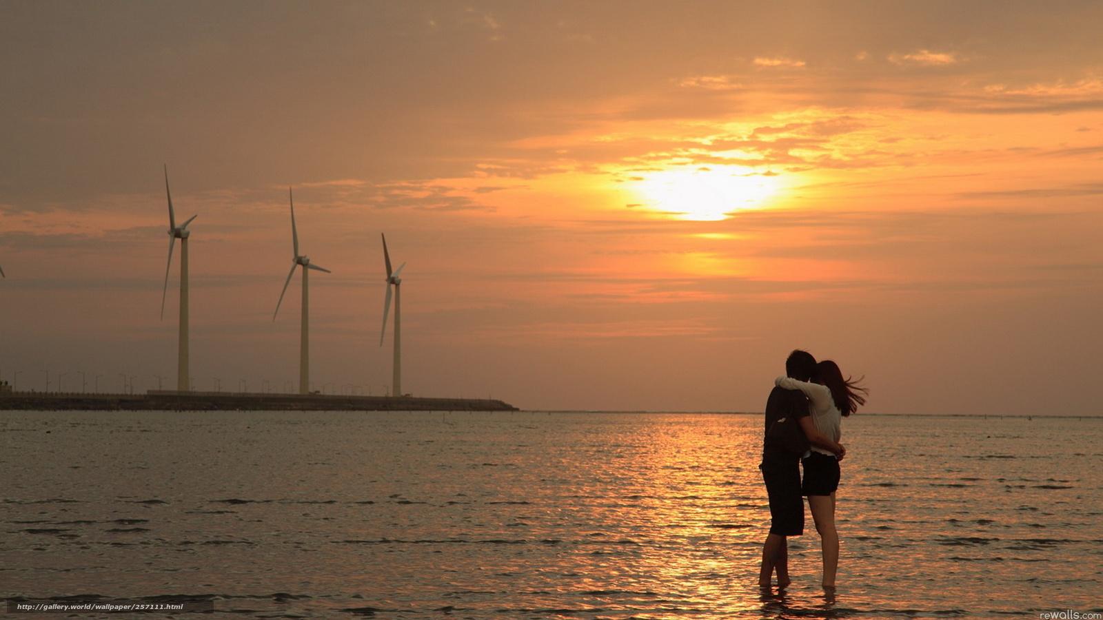Tlcharger fond d 39 ecran amour mer coucher du soleil fonds for Belle photo hd