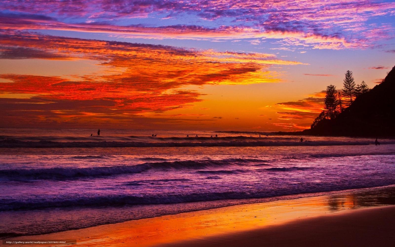 日落简笔画图片带颜色