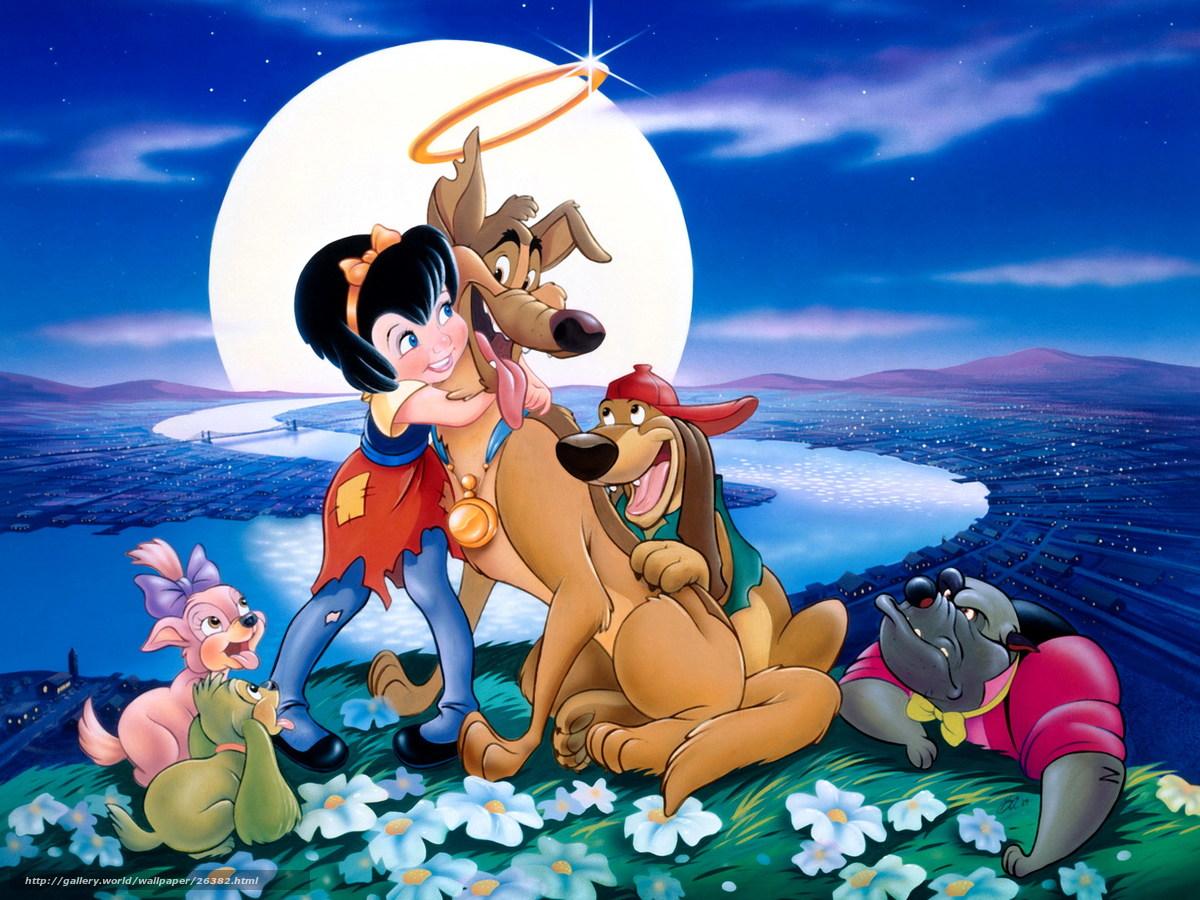 scaricare gli sfondi Tutti i cani vanno in paradiso,  Tutti i cani vanno in paradiso,  film,  film Sfondi gratis per la risoluzione del desktop 1600x1200 — immagine №26382
