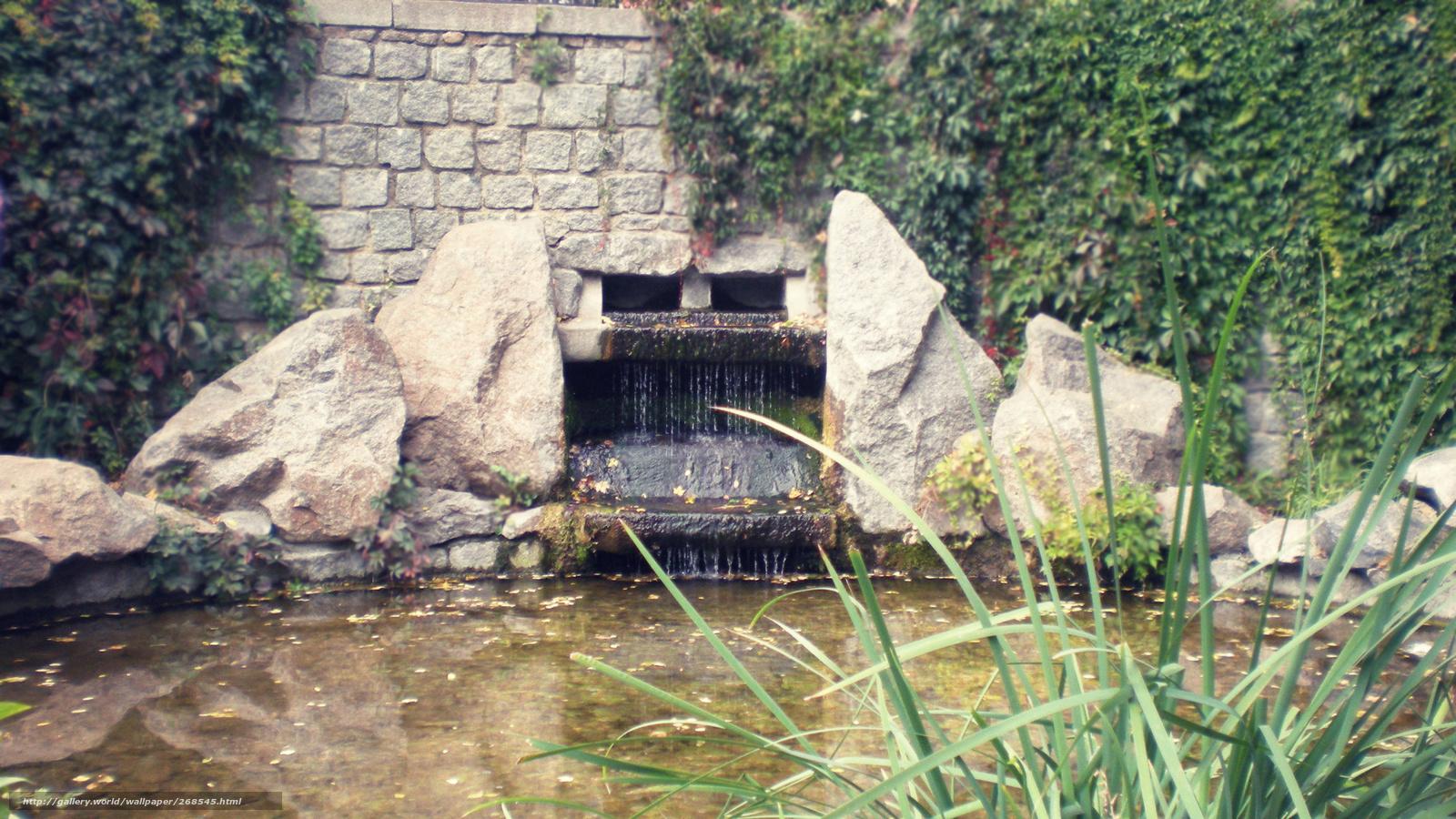 Download hintergrund stein wand wasserfall see freie - Wasserfall wand ...