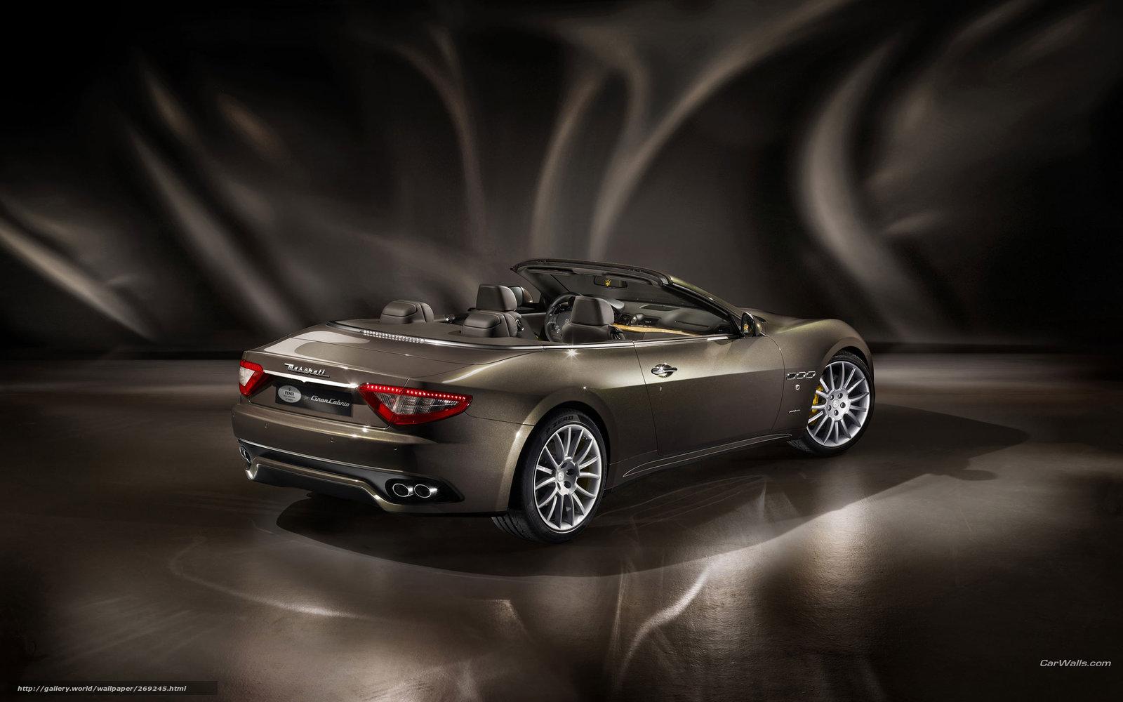 Скачать обои Maserati,  GranCabrio,  авто,  машины бесплатно для рабочего стола в разрешении 2560x1600 — картинка №269245