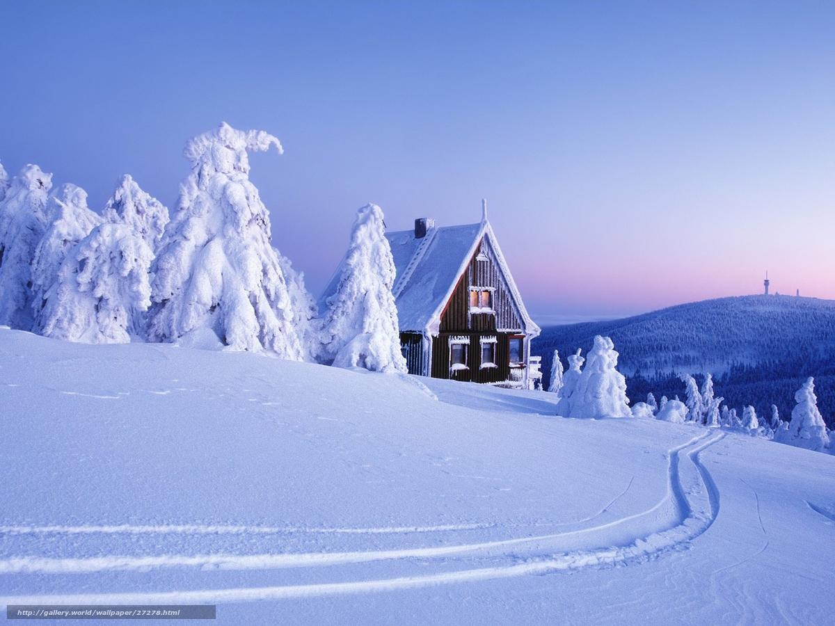 Scaricare gli sfondi inverno neve casa sfondi gratis per for Foto inverno per desktop