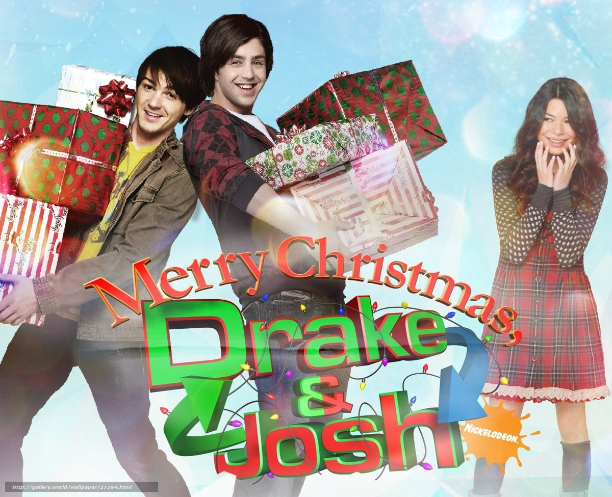 download hintergrund frohe weihnachten drake and josh. Black Bedroom Furniture Sets. Home Design Ideas
