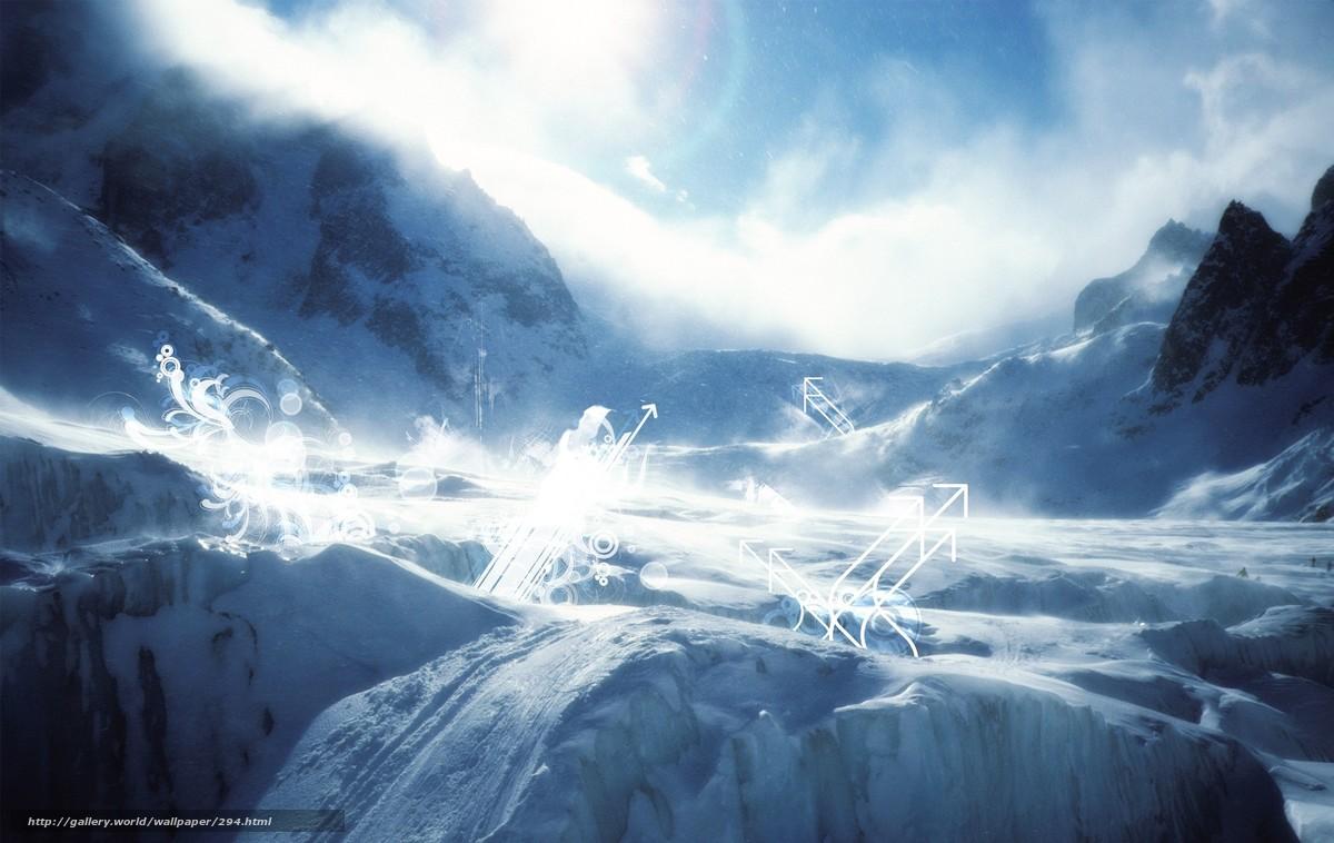 Скачать обои горы,  зима,  снег,  вершины бесплатно для рабочего стола в разрешении 1900x1200 — картинка №294