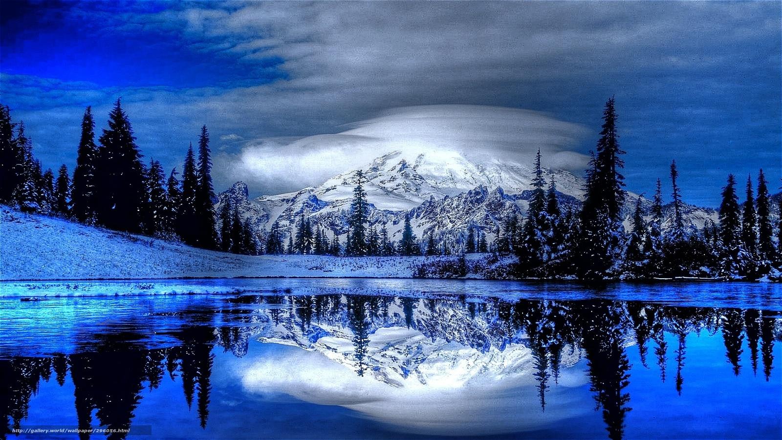 Download wallpaper nature mountains water forest free for Sfondi gratis desktop inverno