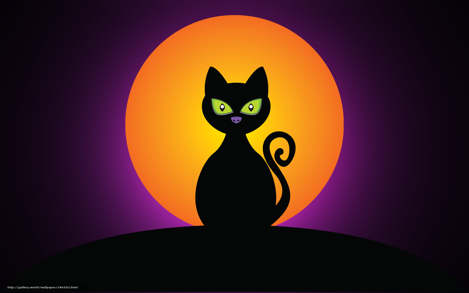 tlcharger fond d 39 ecran chat noir halloween lune fonds d. Black Bedroom Furniture Sets. Home Design Ideas