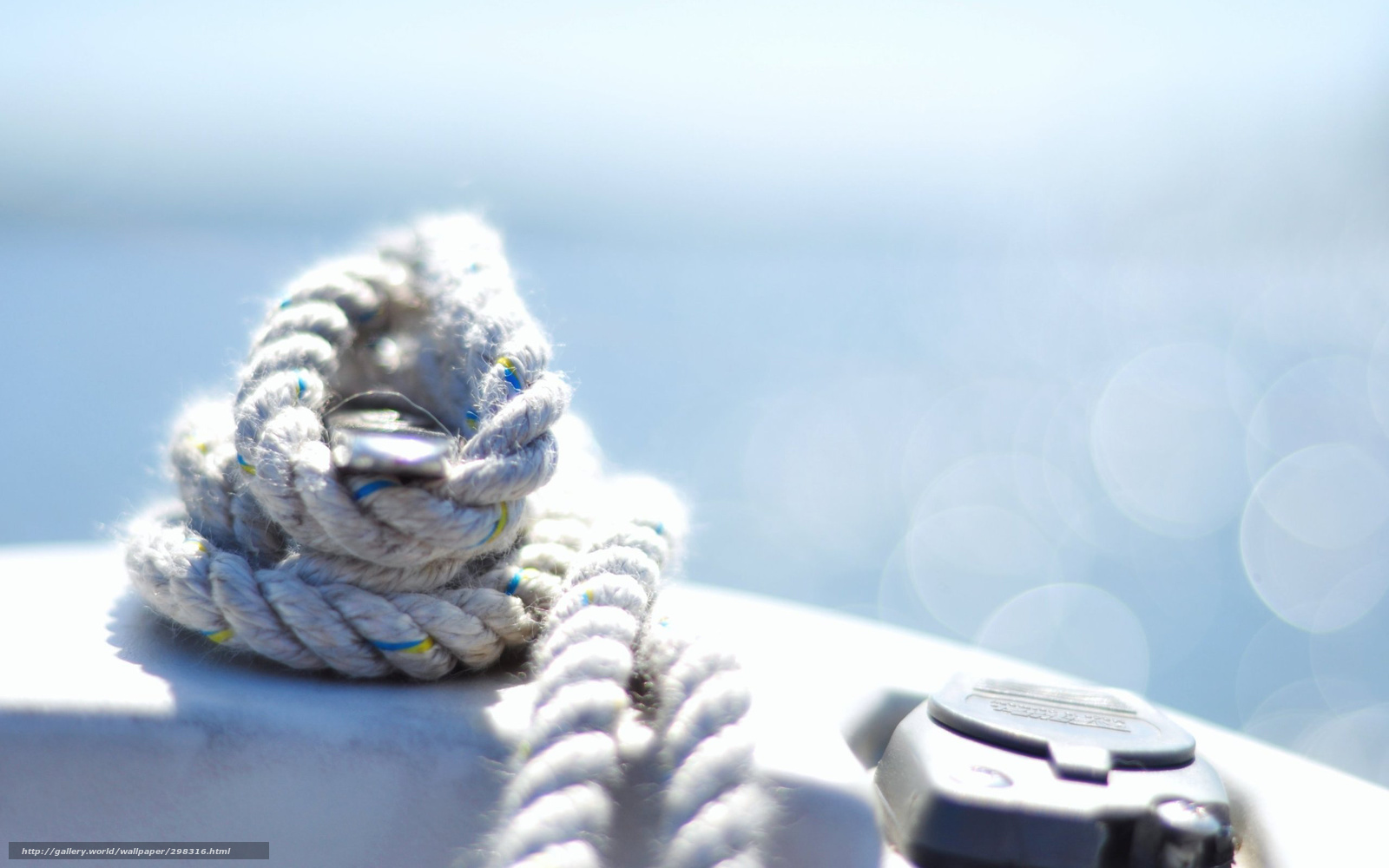 Download wallpaper rope,  marine,  node,  tied free desktop wallpaper in the resolution 2560x1600 — picture №298316