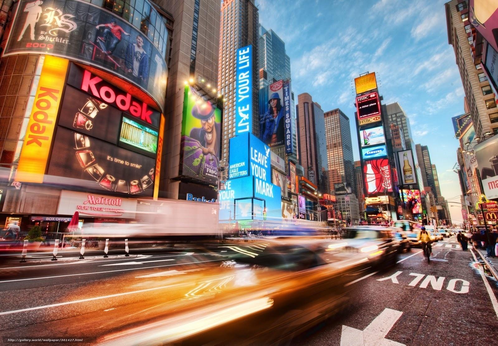 Tlcharger fond d 39 ecran new york city times square action for Photo ecran times square