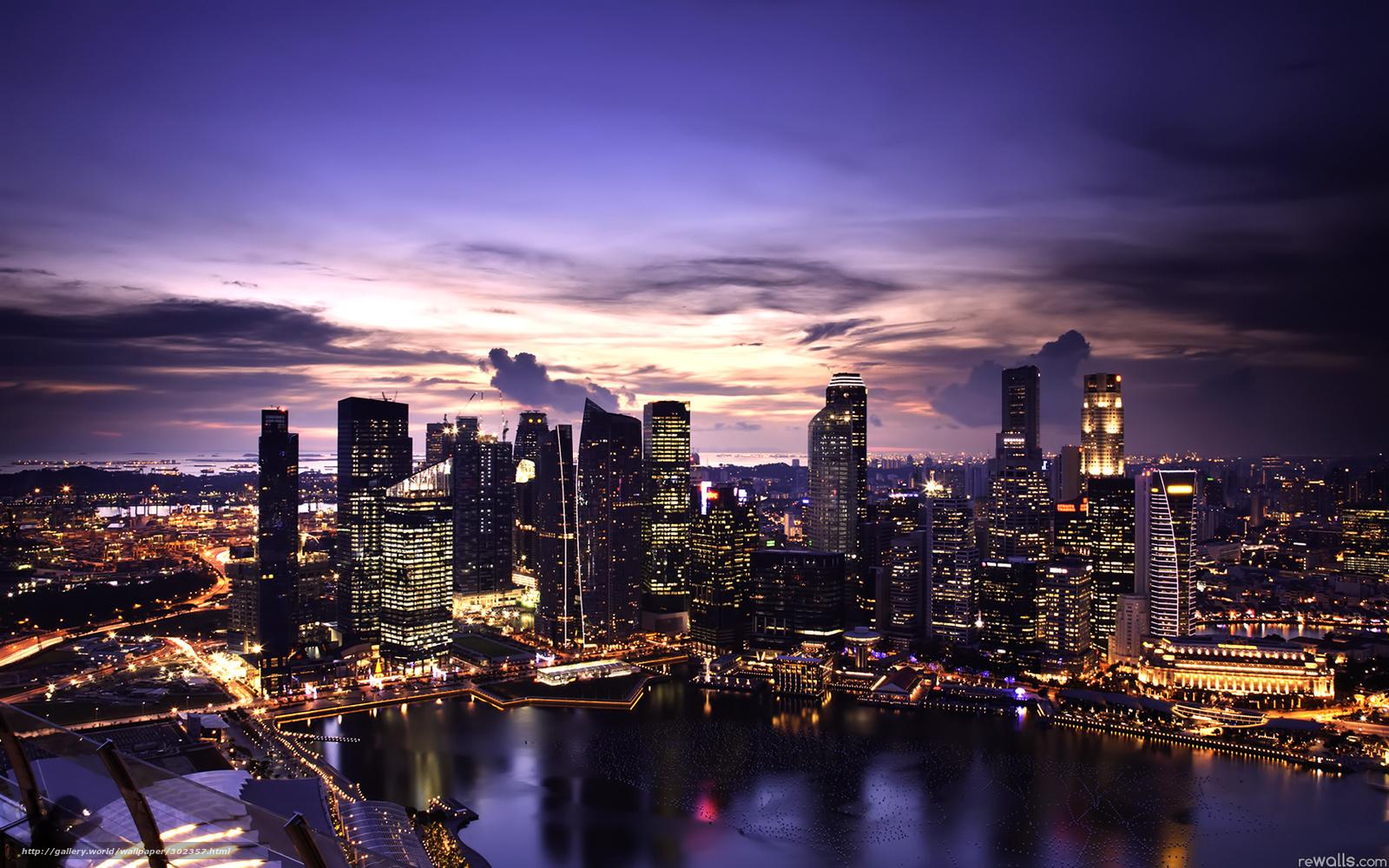 download hintergrund singapur sonnenuntergang beleuchtung freie desktop tapeten in der. Black Bedroom Furniture Sets. Home Design Ideas