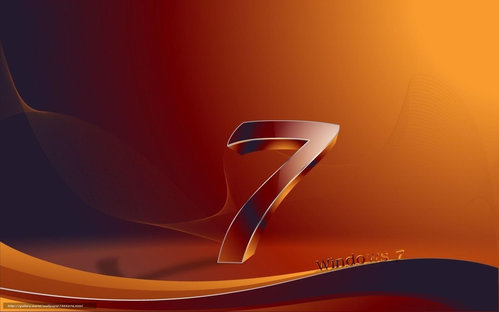 tlcharger fond d 39 ecran fentres 7 noir orange fonds d. Black Bedroom Furniture Sets. Home Design Ideas