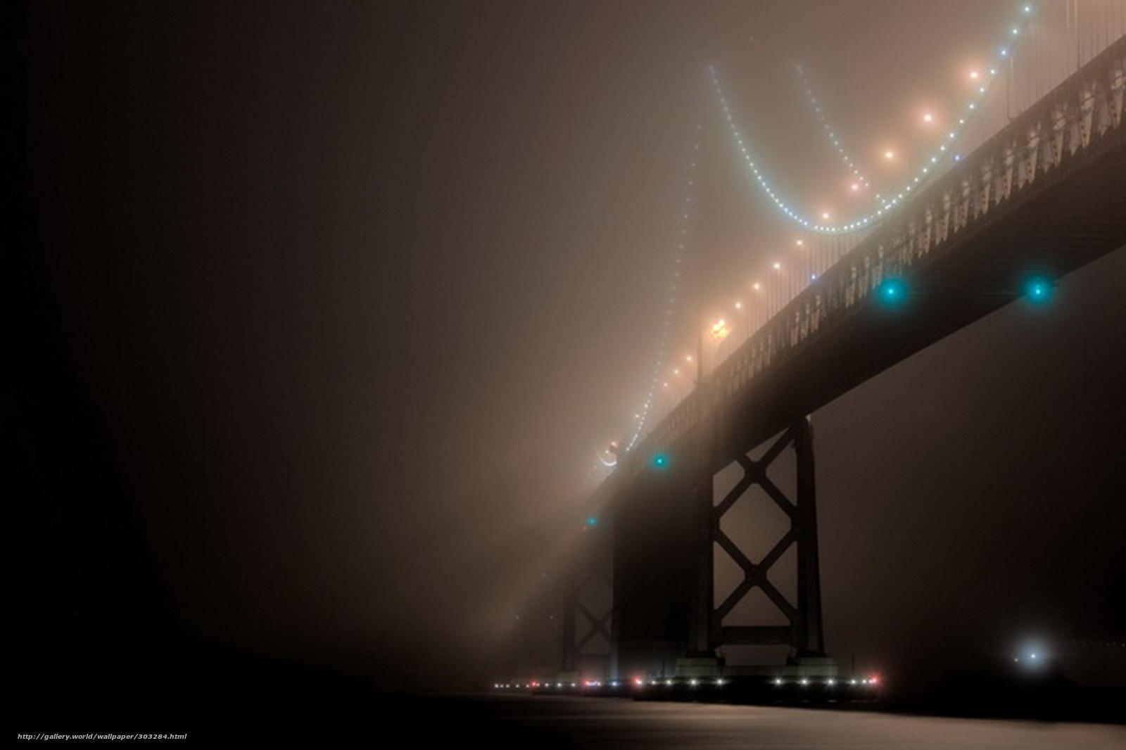 scaricare gli sfondi nebbia,  oltre,  ponte,  San Francisco Sfondi gratis per la risoluzione del desktop 1600x1066 — immagine №303284