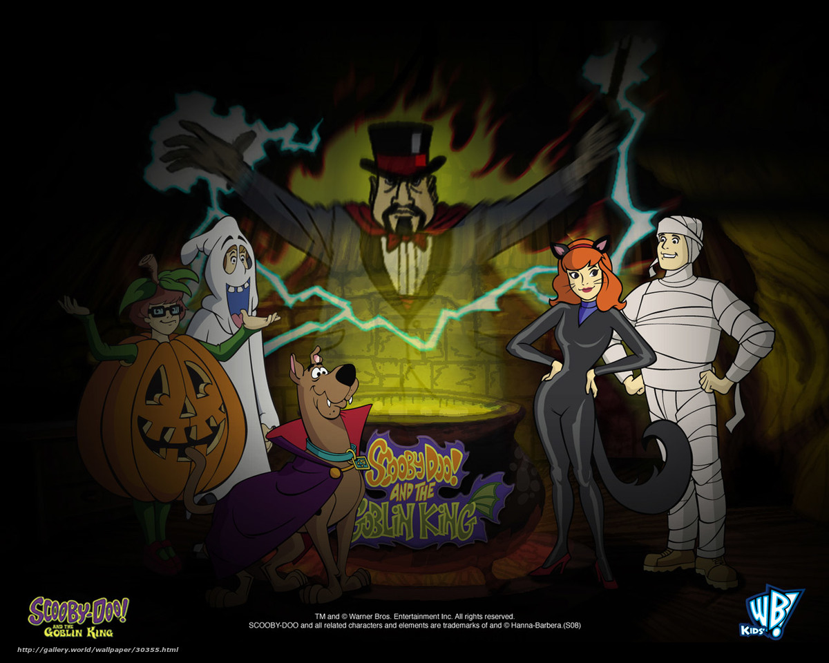 Download wallpaper Скуби-Ду и Король Гоблинов, Scooby-Doo