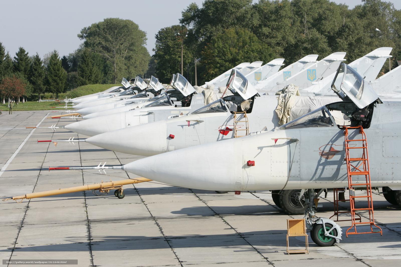 Скачать обои самолеты,  бомбардировщик,  СУ-24М,  подготовка к полетам бесплатно для рабочего стола в разрешении 3504x2336 — картинка №311646
