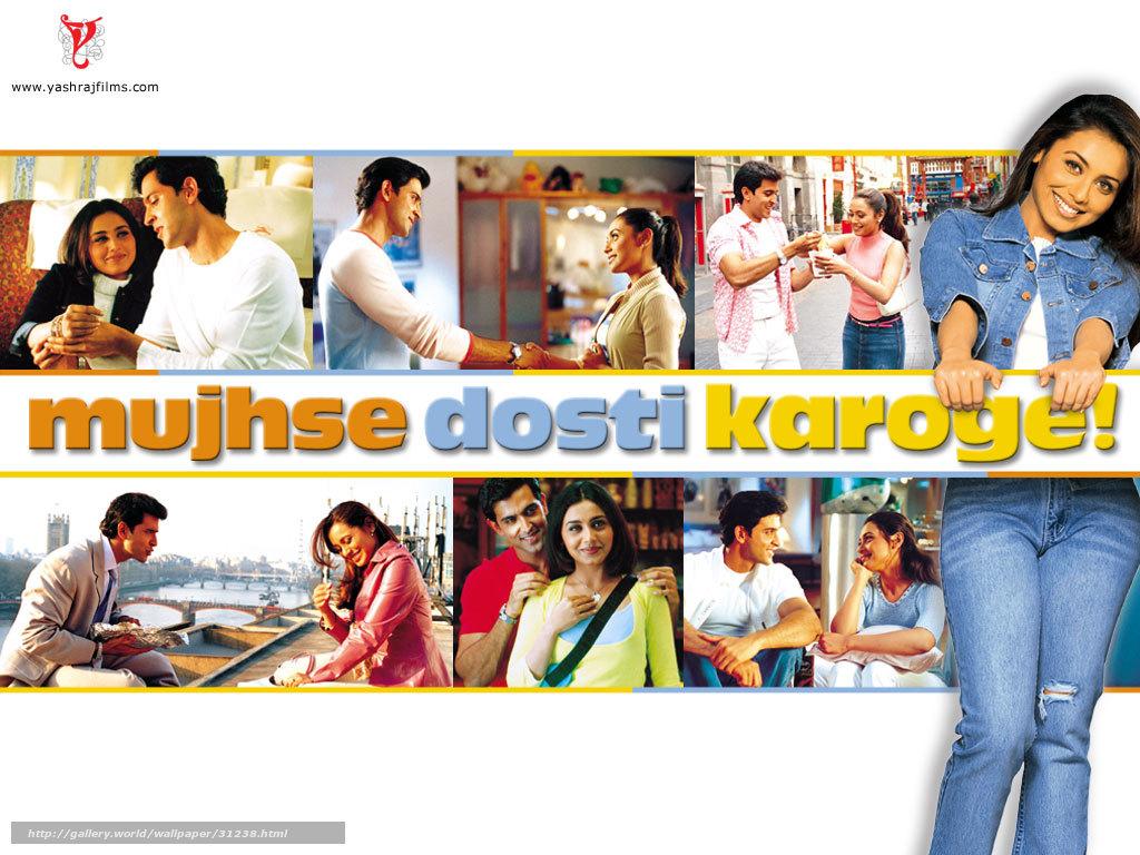Wallpaper download karo - Download Wallpaper Mujhse Dosti Karoge Film Movies Free Desktop Wallpaper In The Resolution 1024x768 Picture 31238