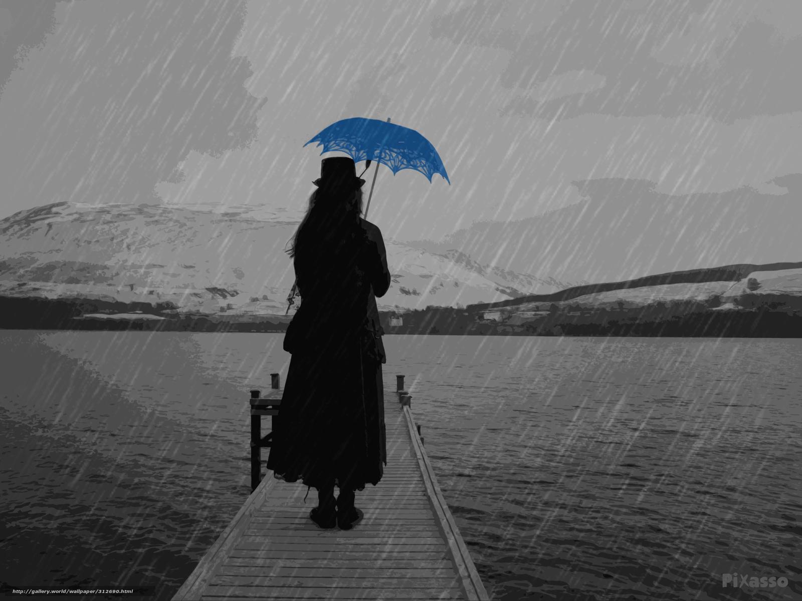 Descargar Gratis Lluvia Paraguas La Figura Fondos De Escritorio En