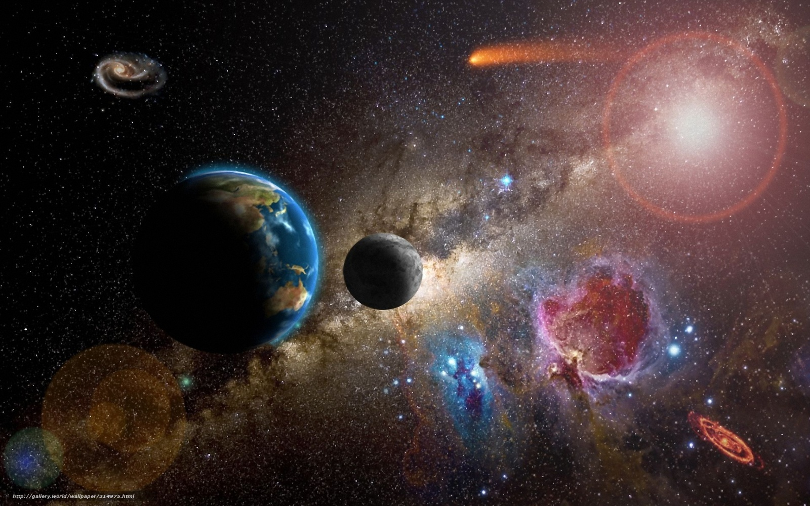 Scaricare gli sfondi terra sullo sfondo costellazioni for Sfondi pianeti hd