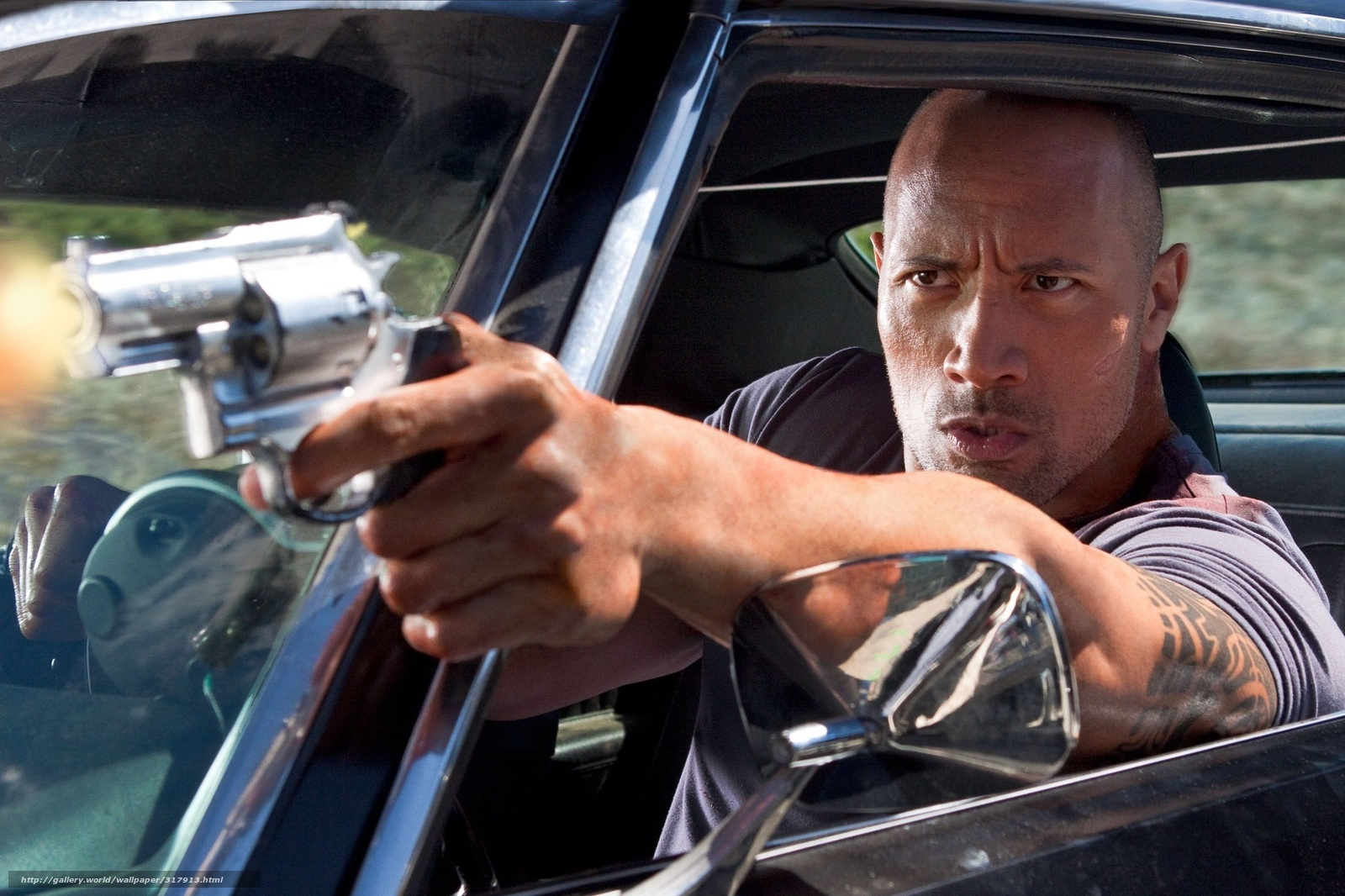 Download wallpaper Dwayne Johnson,  rock,  actor,  faster than a bullet free desktop wallpaper in the resolution 2048x1365 — picture №317913