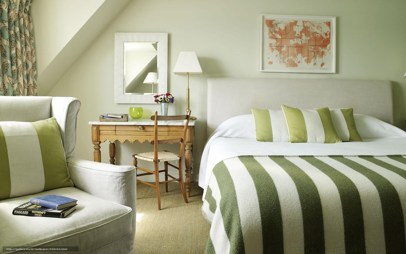 scaricare gli sfondi camera da letto, letto, verde, banda ...