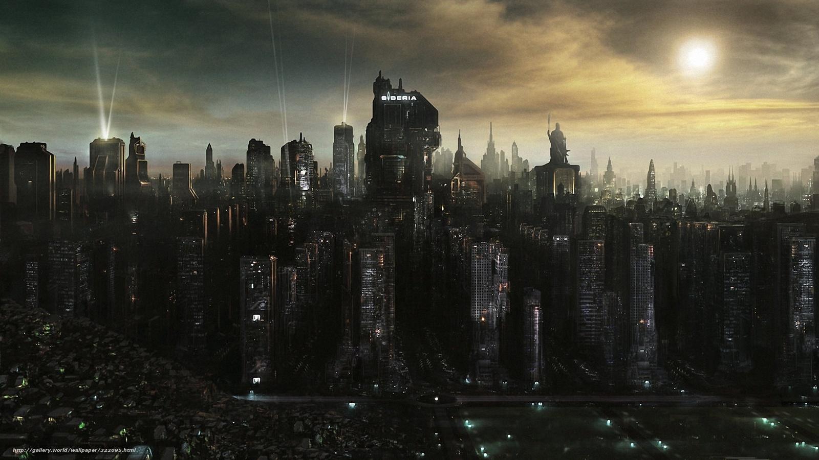 Download wallpaper Siberia,  city,  of the future free desktop wallpaper in the resolution 1920x1080 — picture №322095