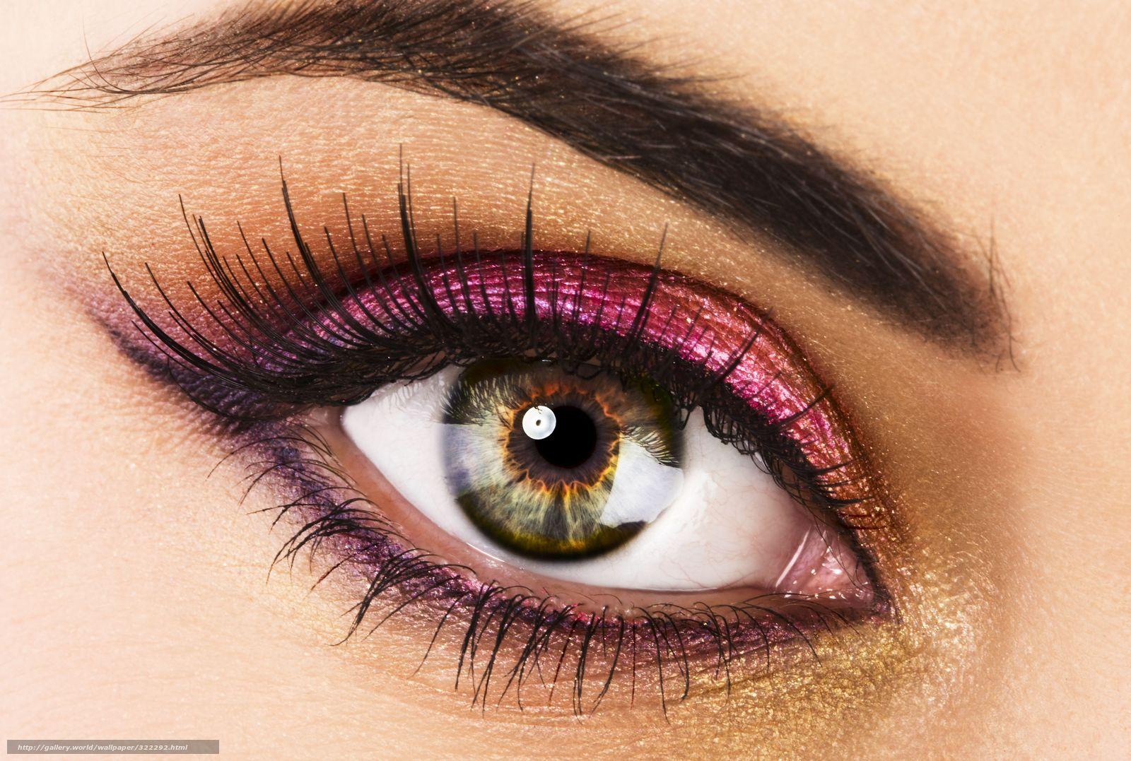 Скачать обои глаз,   ресницы,   макияж,   тени бесплатно для рабочего стола в разрешении 4484x3017 — картинка №322292