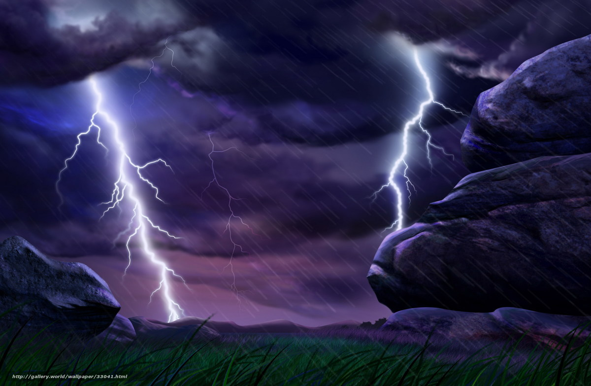 Download wallpaper Thunderstorm,  lightning,  стихия,  rain free desktop wallpaper in the resolution 2400x1565 — picture №33041