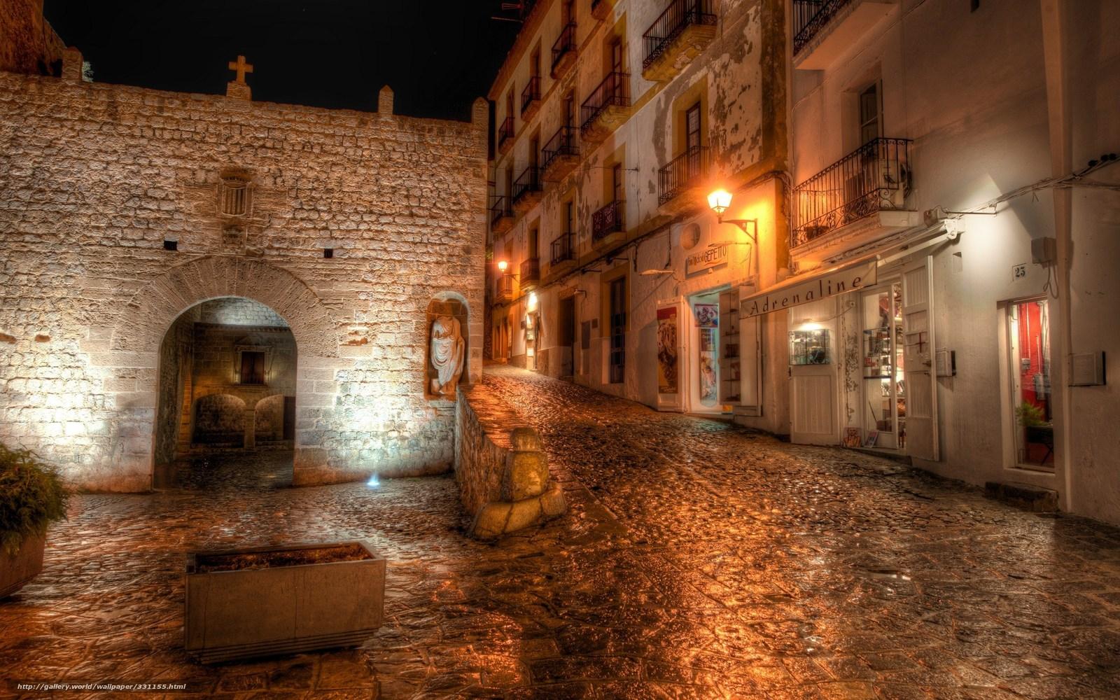 Download wallpaper Ibiza,  Spain,  night,  lights free desktop wallpaper in the resolution 2560x1600 — picture №331155