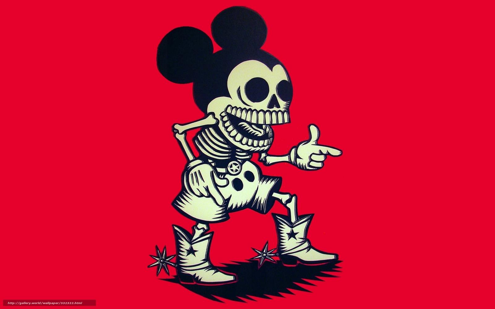 Download Hintergrund Mickey Mouse, Skelett, Cowboy Freie ...