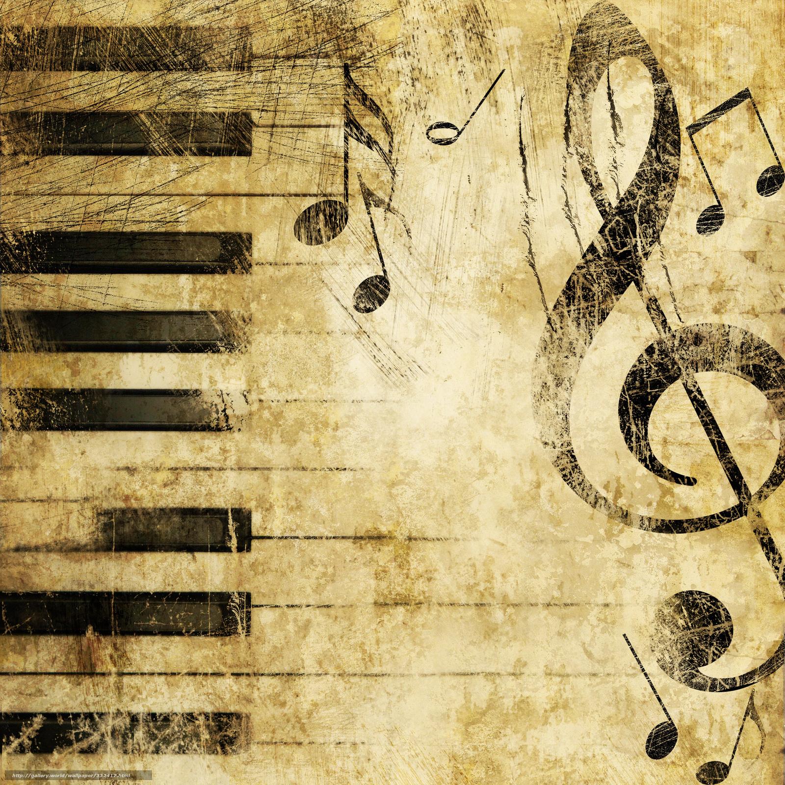 scaricare gli sfondi chiave di violino,  Pianoforte,  musica,  Struttura Sfondi gratis per la risoluzione del desktop 3000x3000 — immagine №332417