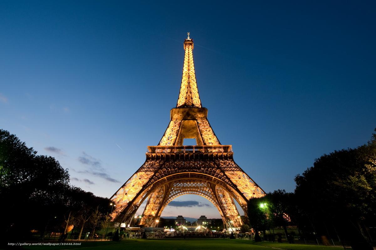 壁紙をダウンロード パリ エッフェル塔 夕方 デスクトップの解像度のための無料壁紙 2560x1703 絵