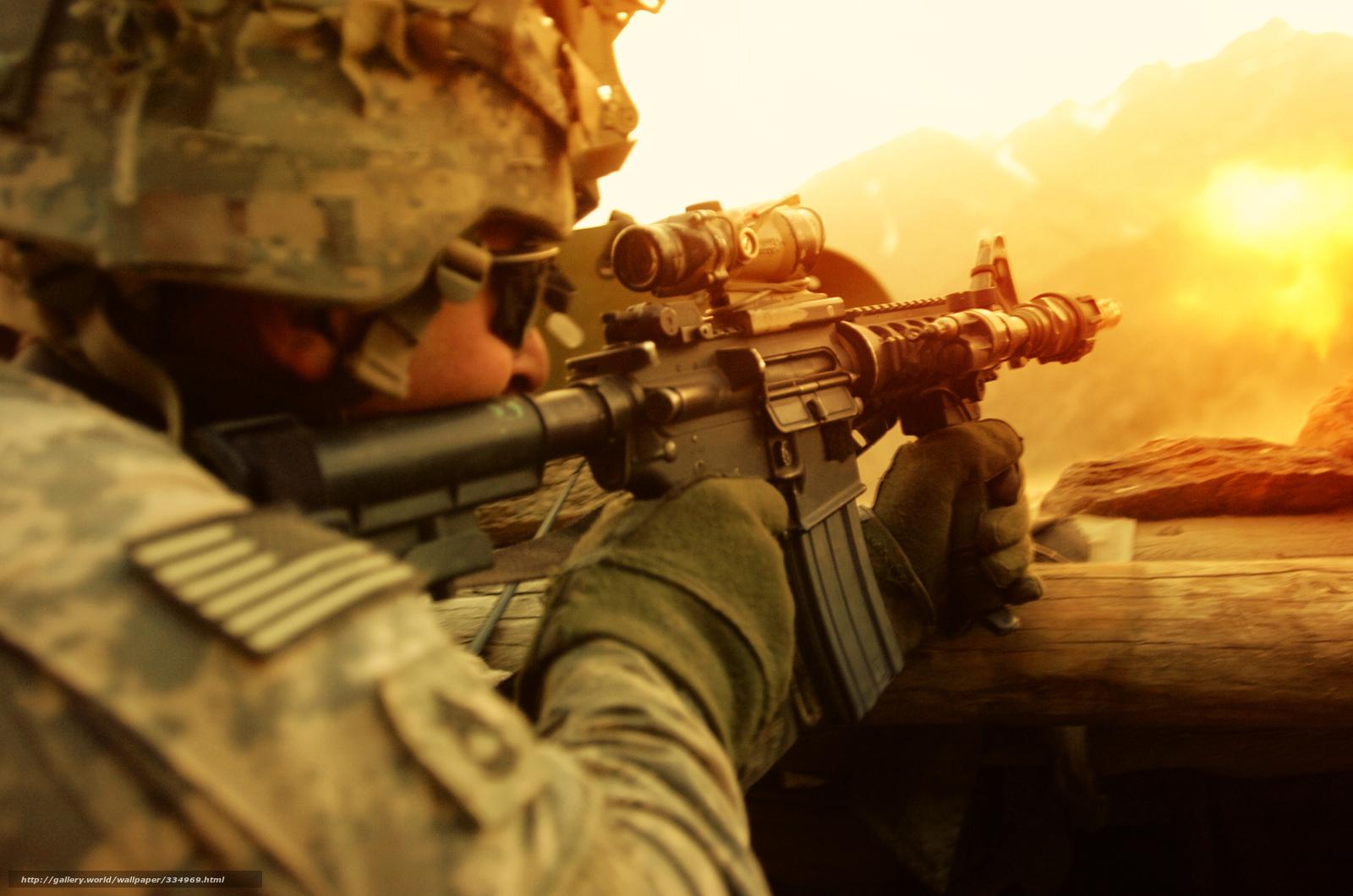 Descargar gratis soldado,  Arma,  tiro,  escaramuza Fondos de escritorio en la resolucin 3000x1987 — imagen №334969