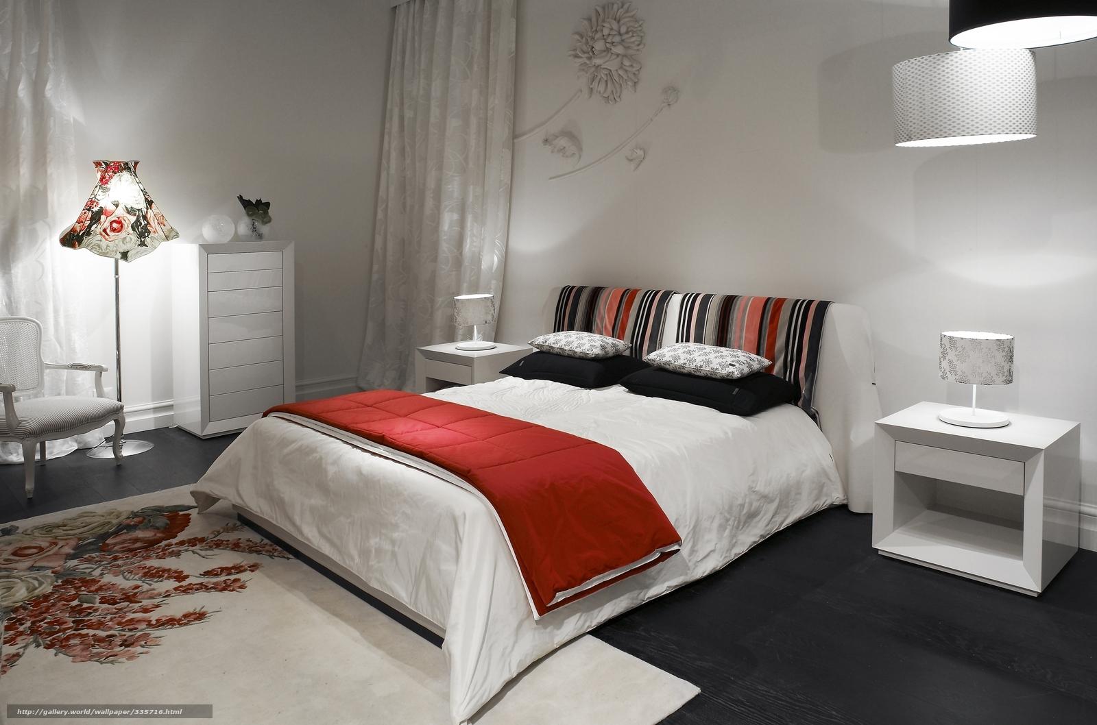 Tlcharger fond d'ecran lit, chambre coucher, blanc fonds d'ecran ...