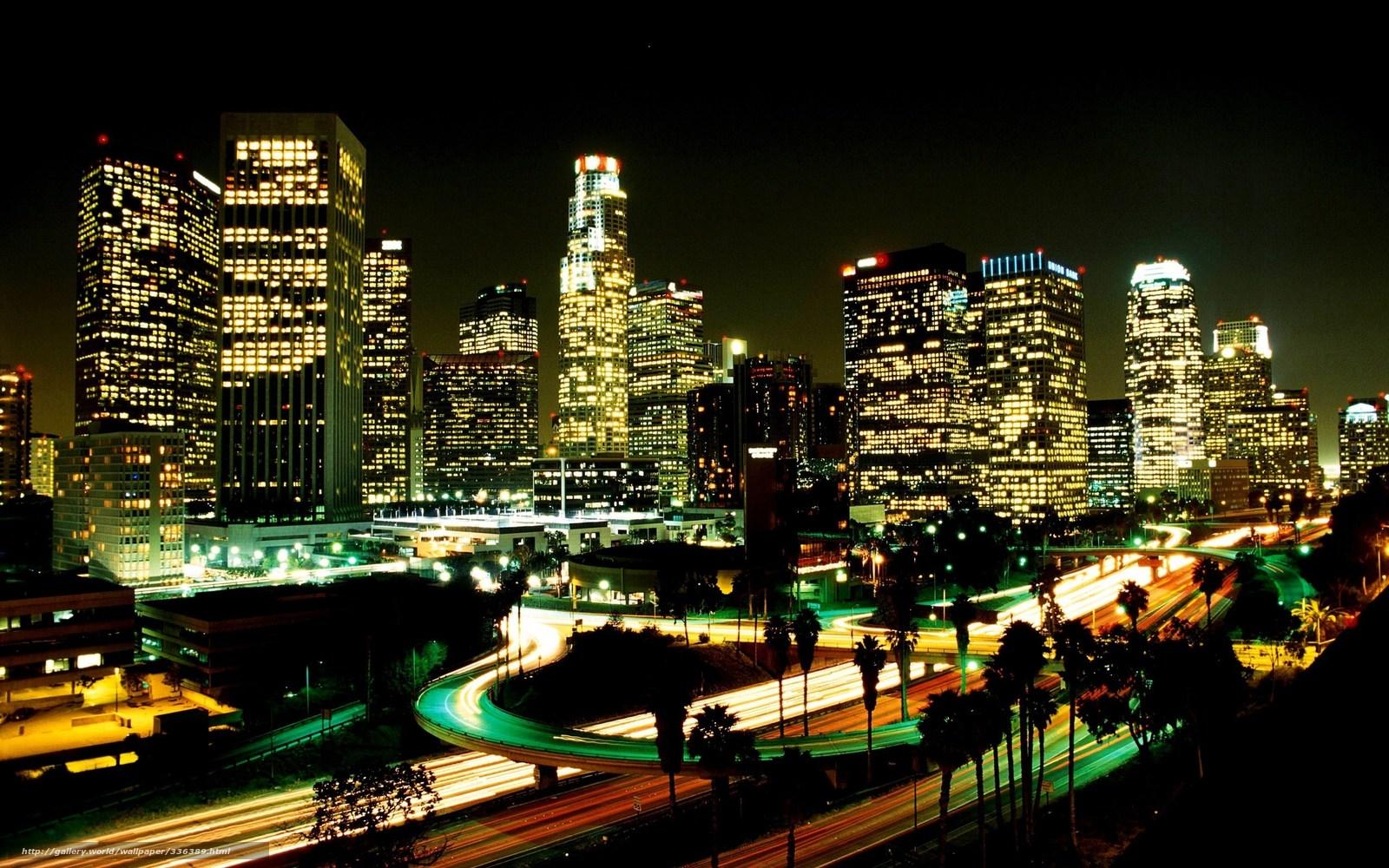 壁紙をダウンロード ロサンゼルス市 夜 点灯 デスクトップの解像度のための無料壁紙 2560x1600 絵 3363