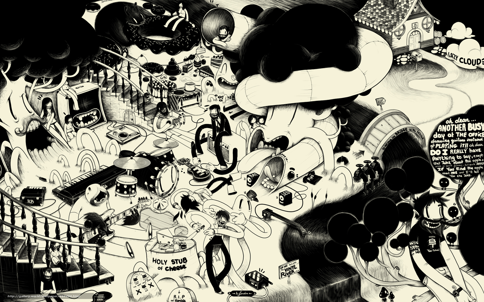Scaricare Gli Sfondi Musica In Bianco E Nero Stile Sfondi Gratis