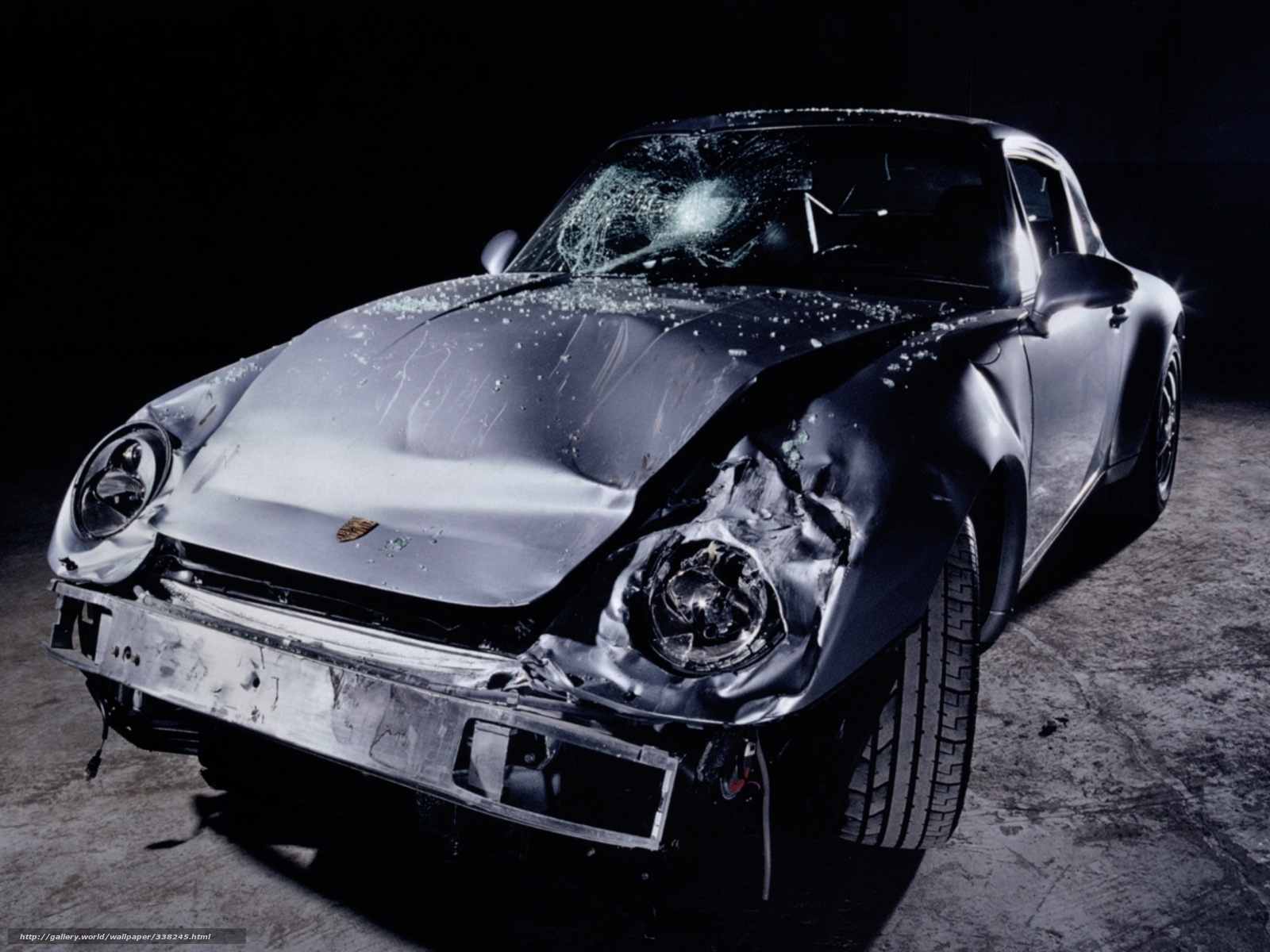 Download Wallpaper Car Crashed Porsche Cars Free Desktop Wallpaper In The Resolution 1600x1200 Picture 338245