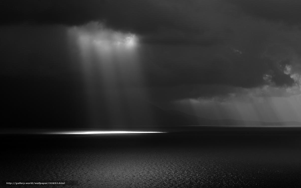 Scaricare Gli Sfondi In Bianco E Nero Nuvole Mare Cielo Sfondi